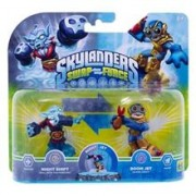Set 2 Figurine Skylanders Swap Force Night Shift And Boom Jet
