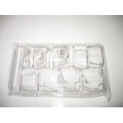 Set 500 unghii false 10 marimi albe la cutie