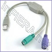 Adattatore convertitore da USB a PS2