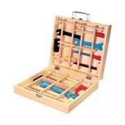Childrens My First Wooden Tool Box Tool Kit & Accessories Hammer Saw & More
