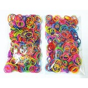 World Toys Loom Refill Rubber Bands 5000 Pc Pack With 2 Sets Of Loom Tool And 100 Clips (Rainbow Colors 625 Each Of 8 Assorted Color),Compatible With All Of Other Looms,Together With Making Instructions