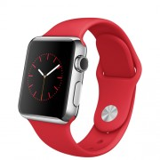 APPLE 38MM STAINLESS STEEL CASE WITH (PRODUCT)RED SPORT BAND