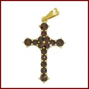 Křížek z českého granátu (Originál Granát Turnov)