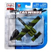 Maisto Fresh Metal Tailwinds 1:153 Scale Die Cast United States Military Aircraft : U.S. Air Force Single-Seat, Twin-Engine, Straight-Wing Jet, Close Air Support (CAS) of Ground Forces Aircraft A-10A Thunderbolt II aka Warthog with Display Stand (Dimensio
