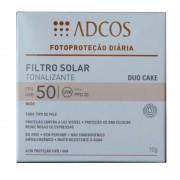Filtro Solar Adcos Tonalizante Duo Cake Fps 50 Beige 10 G