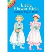Little Flower Girls Sticker Paper Dolls by Barbara Steadman
