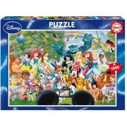 EDUCA 16297 Puzzle Disney Family The marvellous world of Disney II. 1000 bucăţi