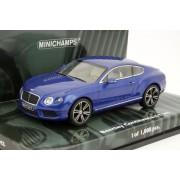 Bentley Continental Gt V8 2011 Blue Metallic Minichamps 436139982 1/43 Lhd Blau-Minichamps