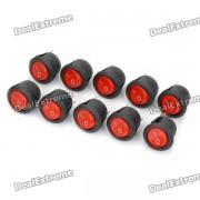 3-Pin DIY Rock Switch Modules w/ Red LED Indicator - Black (10-Pack)