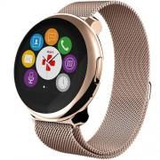 Smartwatch ZeRound Premium Curea Metal Auriu + Curea Silicon Negru Auriu Mykronoz