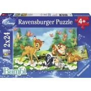 PUZZLE BAMBI 2x24 PIESE Ravensburger