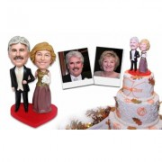 Full Custom Bobblehead Selection (Six People Total: One Couple, One Best Man, One Maid of Honor, and Two Bridal Party)