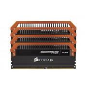 Corsair CMD16GX4M4B3400C16 Dominator Platinum Kit di Memoria da 16 GB, 4x4 GB DDR4, 3400 MHz, CL16 XMP 2.0 Enthusiast, Nero