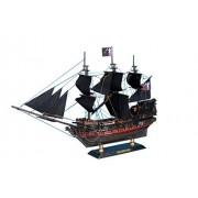 "Caribbean Pirate Ship Limited 15"" Pirates Of The Caribbean Model Boat Wooden Pirate Ship Decorative Pirate Ship Model"