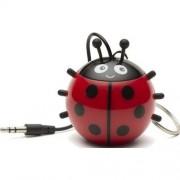 Boxa portabila Trendz Mini Buddy Ladybird, Rosu/Negru