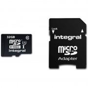 Card Integral micro SDHC 32GB Class 10 UHS-I U1 cu adaptor SD