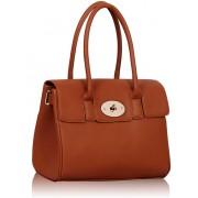 Kabelka LS0045A - Luxury Brown Satchel Grab Handbag