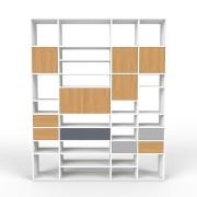 Wohnwand Weiß, MDF, 192 x 233 x 35