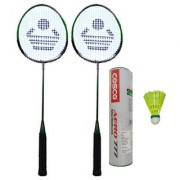 Cosco CB-88 Badminton Racket Pair With Aero 777 Nylon Shuttle Cock- Badminton Kit
