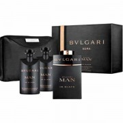 Bvlgari Man In Black Комплект (EDP 100ml + AS Balm 75ml + SG 75ml + Bag) за Мъже