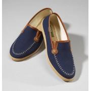 Canvas Slipper für Herren, Farbe blau, Gr.43