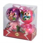 Eminza Set di 4 palle di Natale Disney Minnie Multicolor