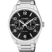 Citizen Black Stainless Steel Round Dial Quartz Watch For Men (AO9020-50E)