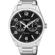 Citizen Black Stainless Steel Round Dial Quartz Watch For Men (AO9020-50E)