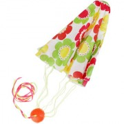 Imported 70cm Flower Print Tangle-Free Mini Parachute Sky Flying Kid's Outdoor Toy