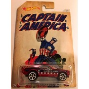 Hot Wheels, Captain America Exclusive, '70 Ford Mustang Mach 1 by Hot Wheels Toy Cars