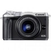Canon EOS M6 Kit EF-M 15-45mm IS STM, argintiu