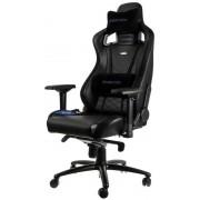 noblechairs EPIC Black/Blue Геймърски стол от изкуствена кожа 100% Vegan