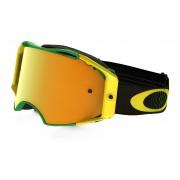 Oakley Airbrake Mx - Shockwave Grn Yel w/24kIrid - Ski & Snowboard Goggles
