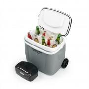 auna Picknicker Trolley Music Cooler, hűtődoboz, bőrönd, 36 l, BT hangfal, szürke (BLG2-CB-36GR)