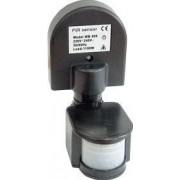 Mozgásérzékelő, fekete - 230V, 1100W, 120°, 5 s-7min, IP44 TMB-008F - Tracon