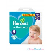 Pampers Active Baby-Dry 5 Junior pelenka (11-18kg) 64db