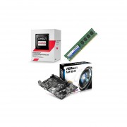 Kit Actualizacion AMD Procesador Sempron 2650 Dual Core 1.4GHz + Tarjeta Madre ASRock AM1B-M + Memoria DDR3 Adata 4GB 1333MHz-Negro
