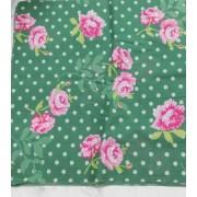 Pöttyös virágos karton maradék, zöld 4 db egyben/0015/Cikksz:1231068