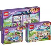 LEGO Friends Voordeelbundel - Emma's Huis 41095 + Dierenkliniek 41085 + Mia's Sportwagen 41091