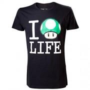 Nintendo T-Shirt -M- I love Life, schwarz [Edizione: Germania]