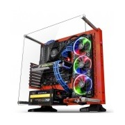 Gabinete Thermaltake Core P3 SE Red Edition con Ventana LED RGB, Midi-Tower, ATX/Micro-ATX/Mini-ITX, USB 2.0/3.0, sin Fuente, Rojo