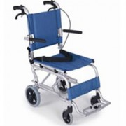 sedia a rotelle da transito / carrozzina da viaggio pieghevole in allu