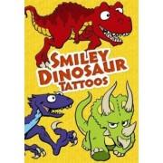Smiley Dinosaur Tattoos by Chuck Whelon
