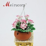 Dolls House Miniatures Beautiful Shaped Flowers And Flower Pots