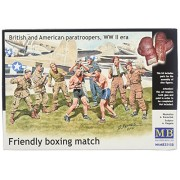 """Master Box Models """"Friendly Boxing Match"""" British and American Paratroopers WWII Era Model Building"""