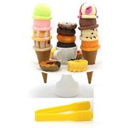 Little Treasures 22 Pcs Funny Game Cookies Ice Cream and Doughnuts for Ages 3 and Up - Stack Assorted Ice Creams and T