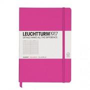 Caiet Leuchtturm A5,249f,mate,roz