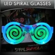 Spirál villogó Led szemüveg 99009D - Gyerek játék