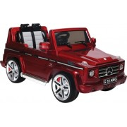 Accu voertuig Mercedes Benz G 55 - MP3 - Radio- Afstandsbediening - 12V motor - Rood