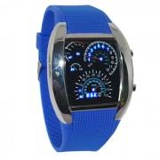 Športové hodinky s led displejom s modrým remienkom